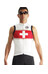 assos NS.neoPro - Maillot sans manches Homme - rouge/blanc